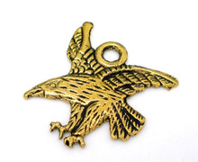 25 PCs Gold Tone Eagle Animal Charms Pendants 21x22mm