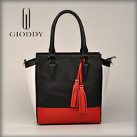 The classical design China supplier Hot selling famous brand leather handbag fashion