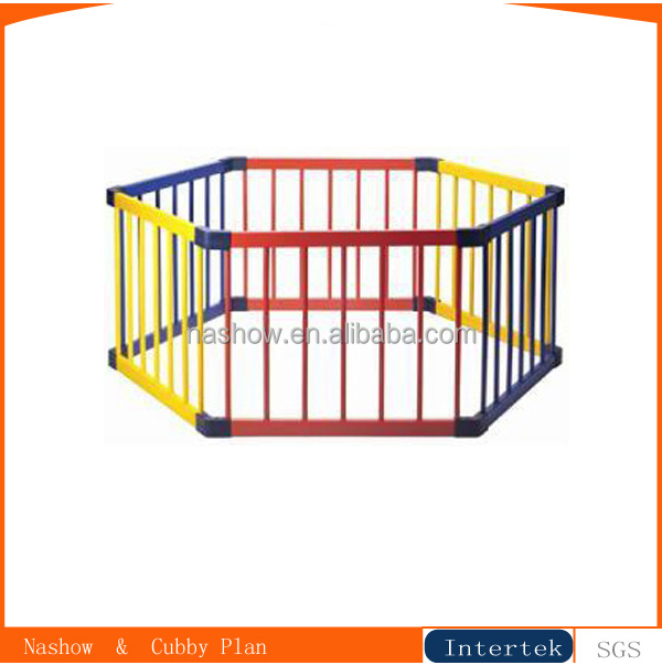 6 side folding wooden baby&pet playpen