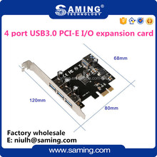4 USB 3.0 (3+1) ports 3 External port + 1 Internal Port PCI-e 1x I/O combo card Controller Card/ riser card