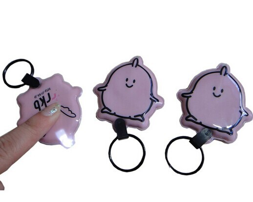 Promotional 2014 new design 3d pvc led keychain