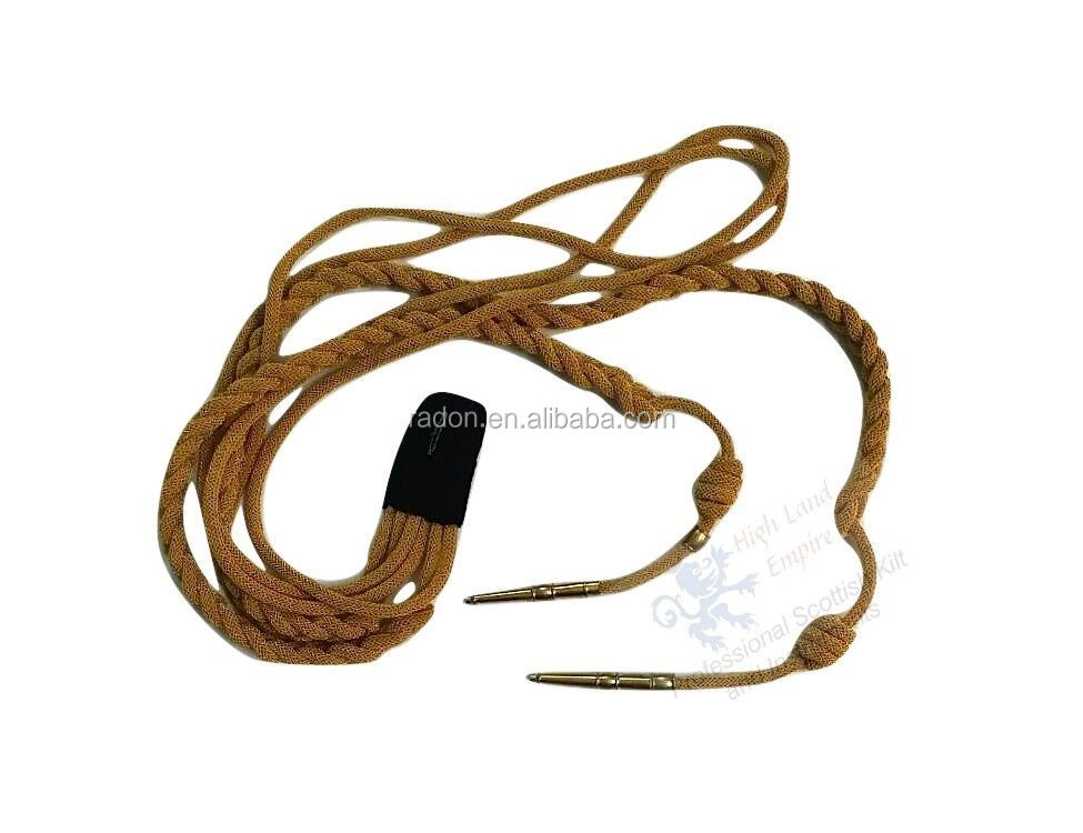 Regulation Infantry belgium fourragere Shoulder Cord with brass Tip