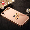 2016 Wholesale Luxury Ultraslim 2 in 1 Detachable Electroplating Aluminum Mirror Metal Bumper Case for HTC Desire 816 820 626