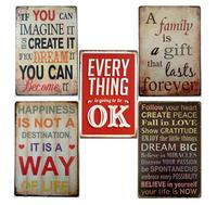 Imagine Create Dream you can become it retro words wall decor metal tin sign