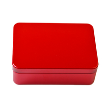 Daily Use holiday tins & containers blank tin cans rectangular shape red plain metal tins with large inventory