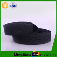 Factory supply black polyester elastic webbing belt with factory price
