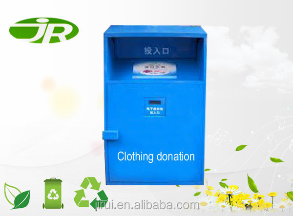 used clothing and shoes collection drop off bins