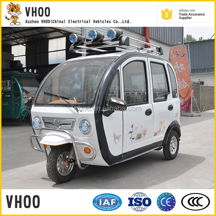 2017 new model with free spare parts DC Series Brushless Motor Electric Tricycle/3-seated bajaj three wheeler auto rickshaw