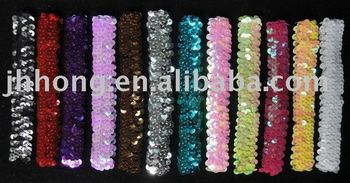 1'' sequin headbands baby headbands for girl stretch sequin headband