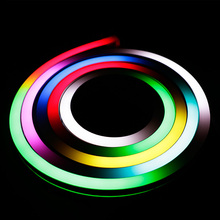 5050 rgb digital led neon flex tube 9.5*18mm inground flexible neon strip light