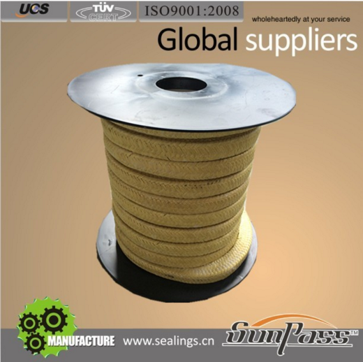 Supranite Packings Shaft Seal Mixers Packing Stuffing Box Yellow Kevlar Fiber Gland Packing