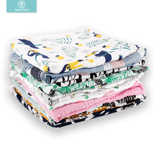 HappyFlute muslin baby swaddle throw baby blanket washable weighted blanket