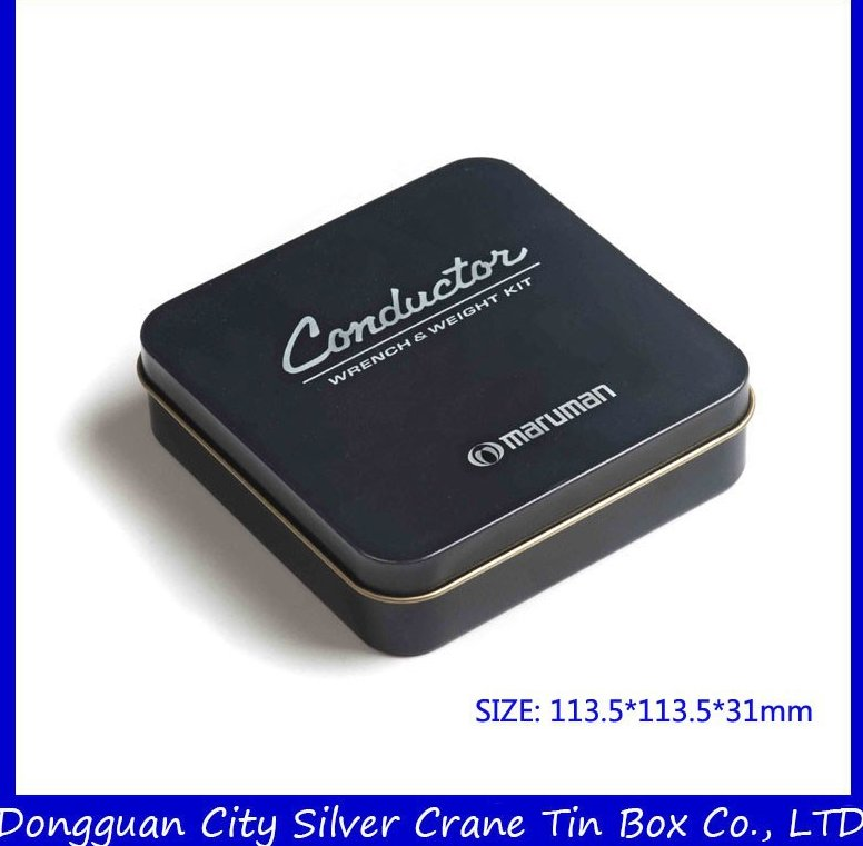Square Chocolate Tin Box