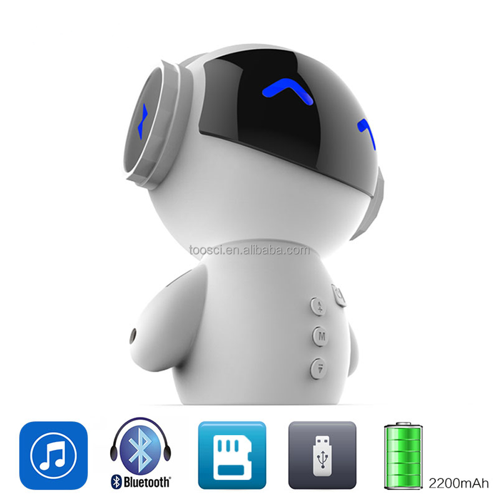 New Arrival Intelligent <strong>M10</strong> Robot Mini Bass Stereo Music Box Handsfree Car Loudspeaker Power Bank Bluetooth Speaker