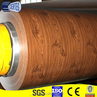 wood grain color coated steel coil