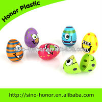 four kinds of smiling plastic easter egg