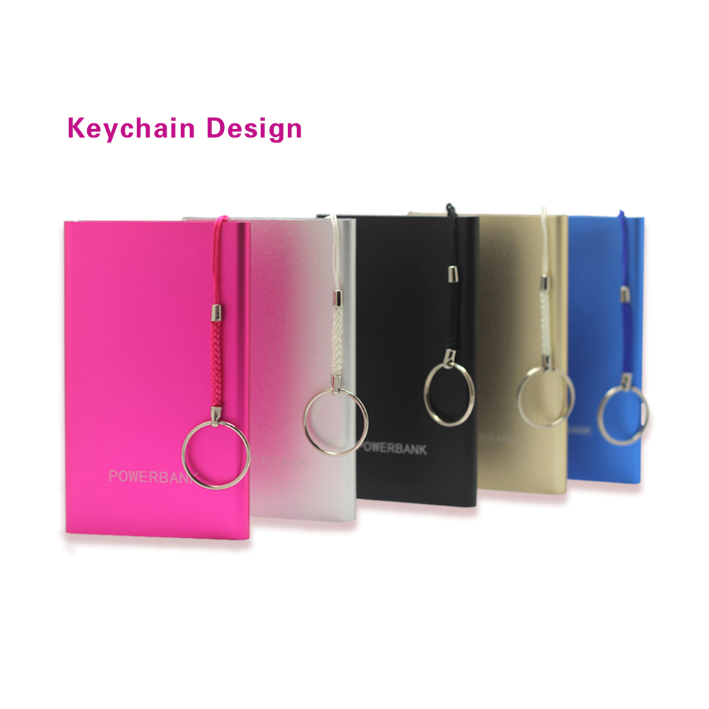 2016 consumer electronics 4000mah alloy polymer keychain power bank