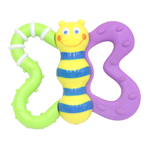 Cute style plastic colorful bee shape baby rattle toys for infant