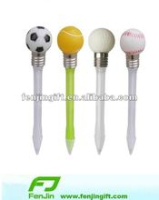 Light ball pen with football golf ball