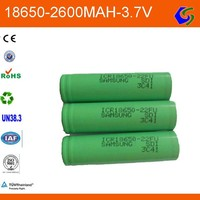 18650 3.6v/3.7v 2600mah cylindrical samsung lithium battery cell