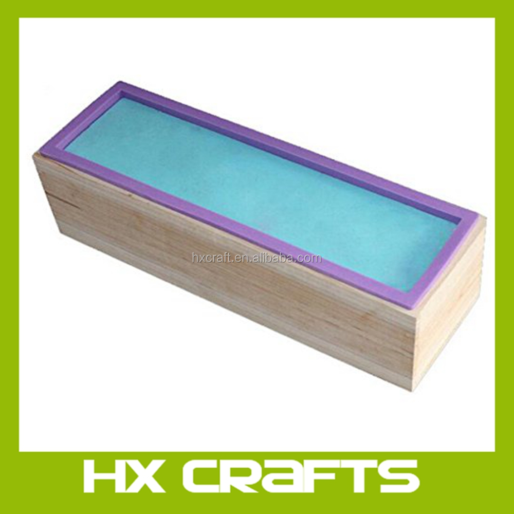 2016 New Mold Flexible Rectangular Soap Silicone Loaf Mold Wood Box for 42oz Soap Making Supplies