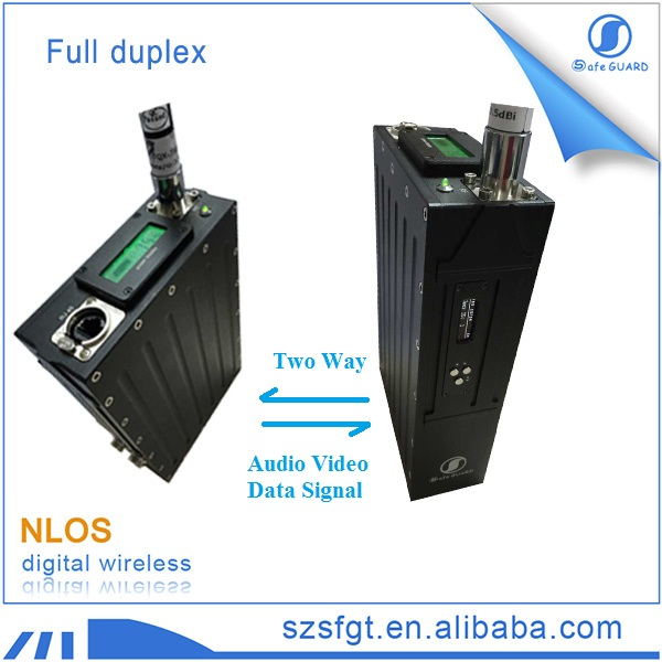 Digital ethernet bridge vhf uhf wireless mesh for IP TDD COFDM