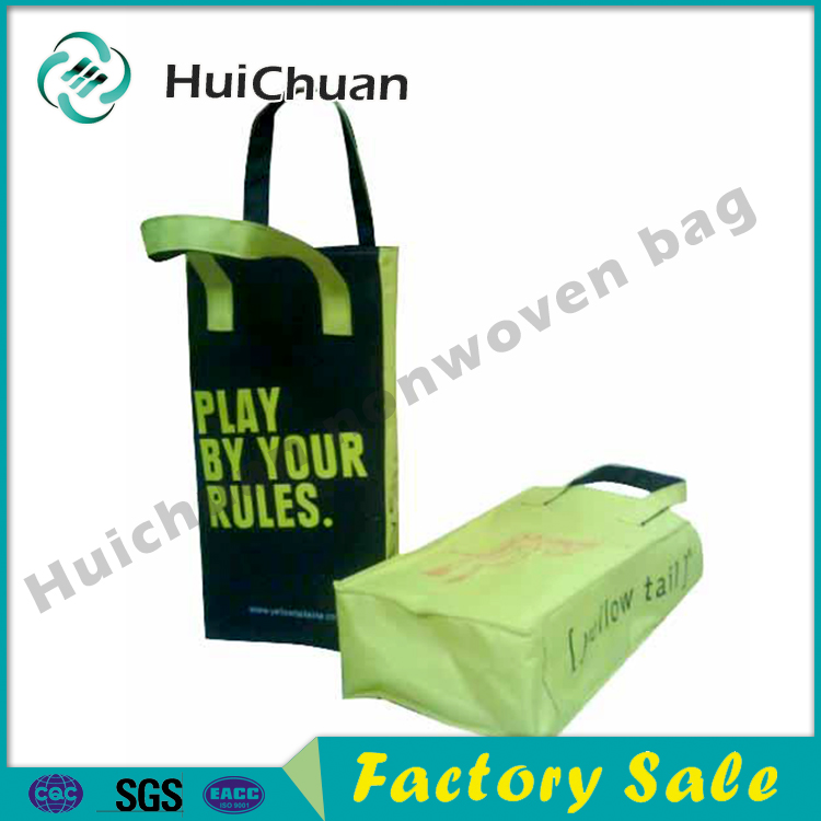 New design customed Reusable eco-friendly Shopping Non woven Wine Bag Wine Tote Bag