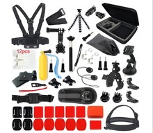 36 in one Chest strap Go pro Accessories Starter Kit for Gopros Hero5/Session/4/3/2/HD Original Black Silver Cameras