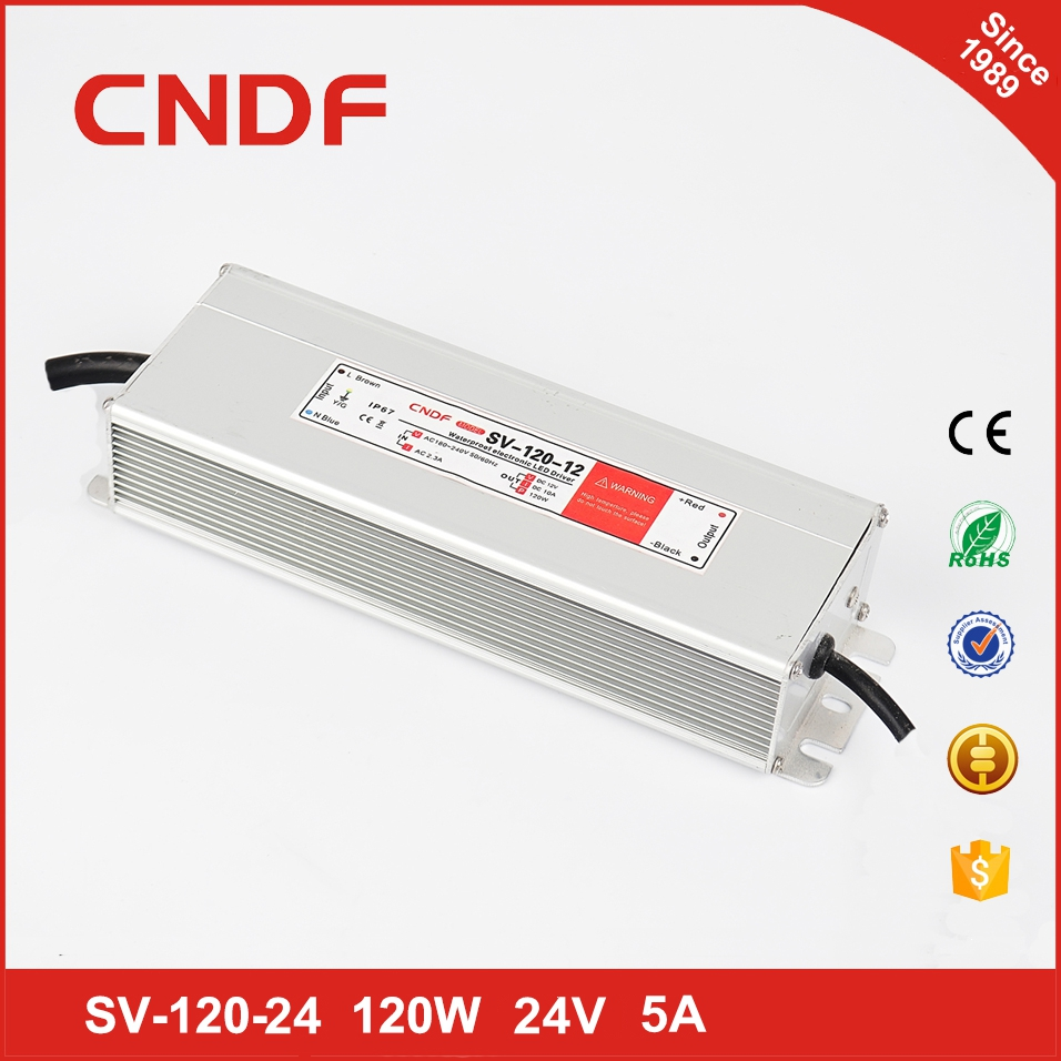 120w 24v led driver power supply 24v 5a switching power supply for christmas tree decorations