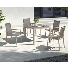 Momoda SN837 Garden outdoor brushed aluminum furniture polywood restaurant minimalist cafe table and chair