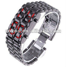 handmade sport watch movt wholesale best selling online for fashion stainless steel strap led light lava watches