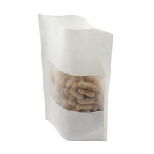Ziplock stand up dried fruit food kraft paper bag with window