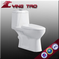 Daul flushing square shape bathroom funiture ceramic siphonic single closetool good flushing system toilet