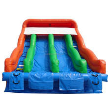 PVC inflatable double lines water slide for fun event/party on sale