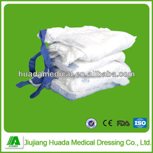 100% cotton yarn medical suitable and absorbing lap sponge