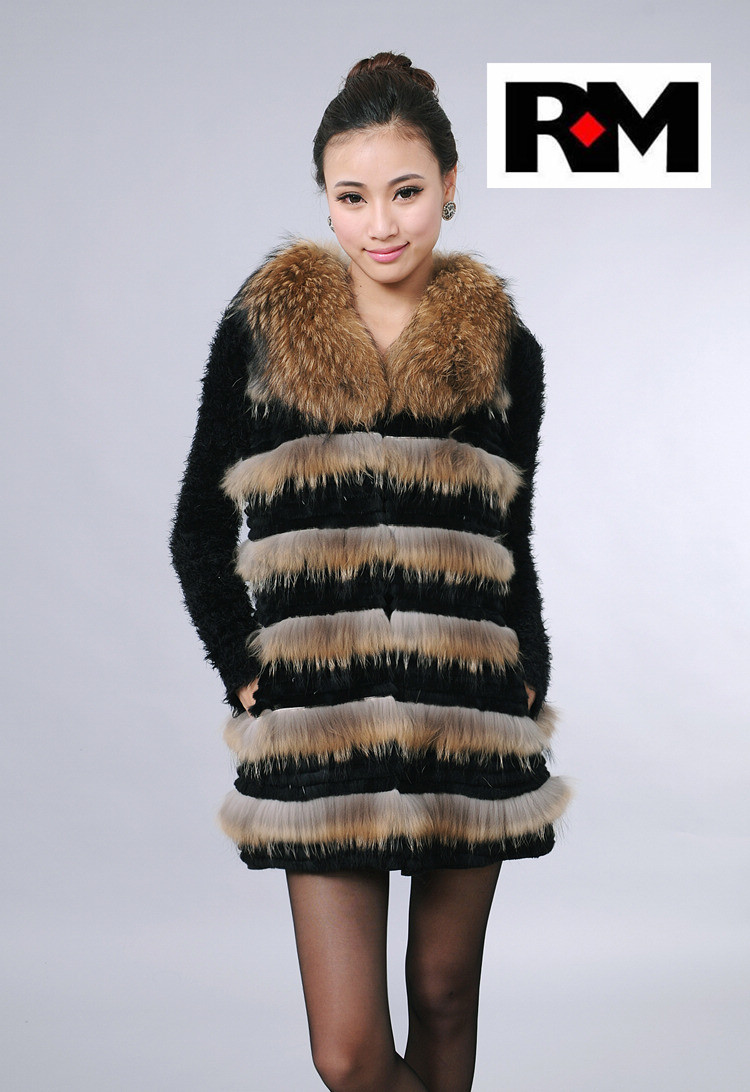 Factory Price New Design Long Raccoon Fur Vest