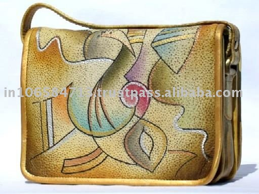 Hand Painted Genuine leather Hand Bags