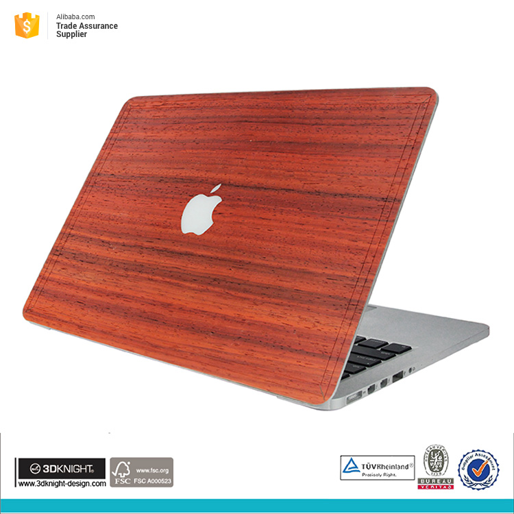 High quality wooden sticker skin for macbook surface protect cover