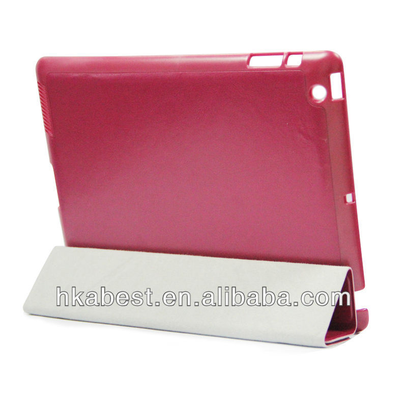 New Product Flip Leather Case FOR IPAD 4 ,FOR Ipad 2/3/4leather cover case Alibaba Express