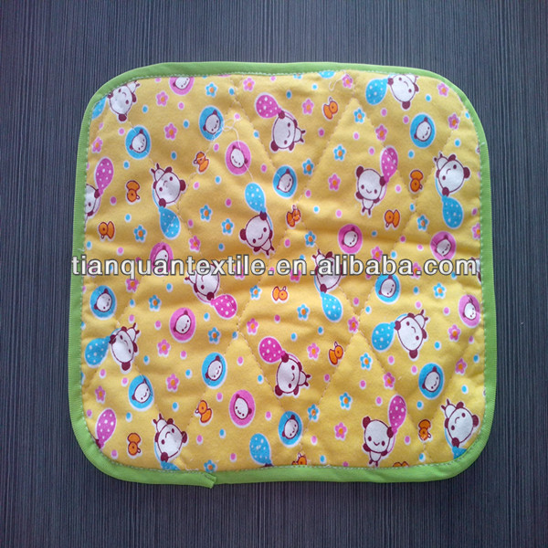 breathable 100 cotton cat printed flannel fabric for baby diaper