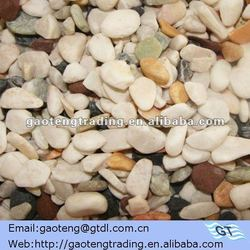 decorative color stone chips (1-3,3-5,4-6,6-9mm,white,green,gray,yellow)