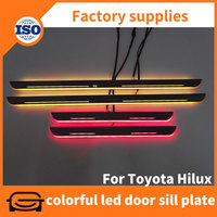 Colorful led moving auto scuff plates for Toyota Hilux