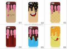 Wholesale - Cartoon Ice cream Soft TPU silicone gel Melt lovely luxury Case For iphone 4 4G 4s 5 5G iphone5 cases Smiling face