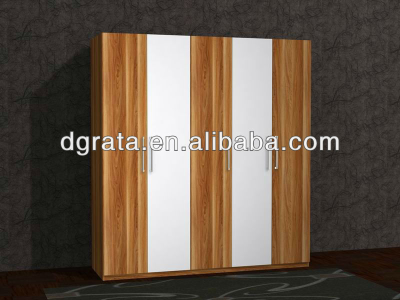 2012 popular wooden wardrobe in MDF board for house living room used
