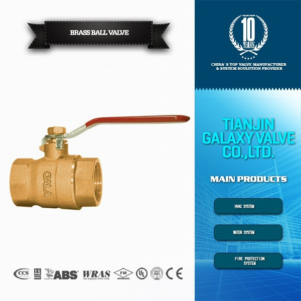 15mm oil and gas brass ball valve 1/4