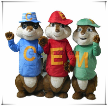 Squirrel mascot costume cartoon character mascot costume cheap price sale