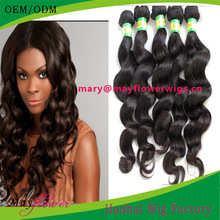 18 inch brazilian loose deep wave hair weave natural black can be dyed