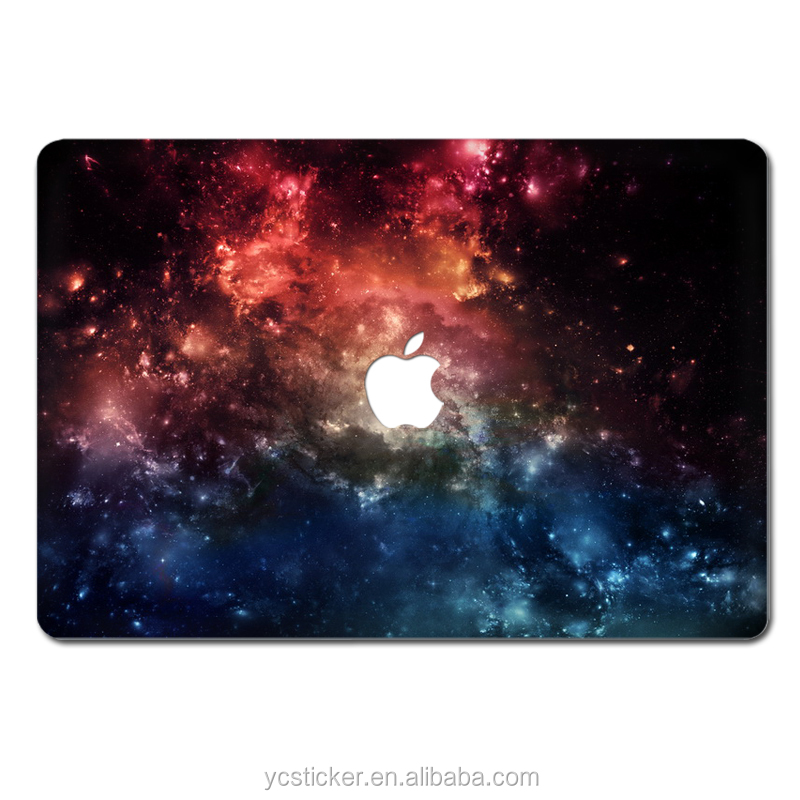 Wholesale Computer Accessories Space Star Designs Decal Sticker Cover for MacBook Air 12 13 Laptop Top Skin