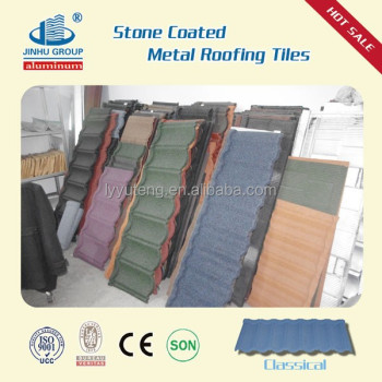 colorful stone coated tile effect roofing sheets