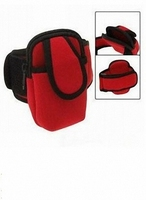 Waterproof Neoprene Armband Case for smartphone with zipped pocket for cards/money/coins/keys